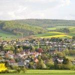 Blick vom Steinberg auf Delligsen