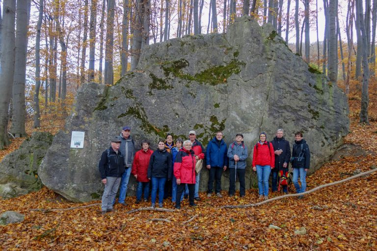 Unsere Wandergruppe vor dem Sürkenstein