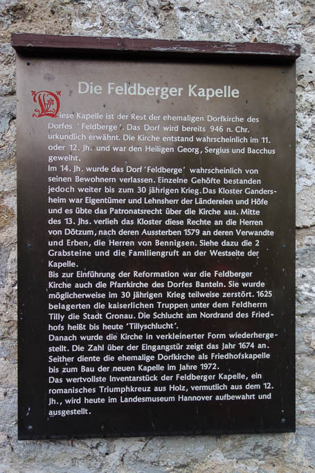 Die Feldberger Kapelle