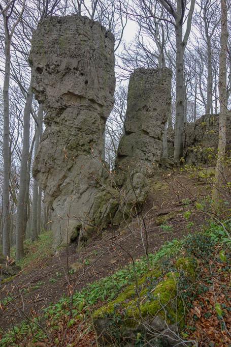 "Naturdenkmal: Felsklippen ""Adam und Eva"""