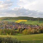 Blick vom Röhnberg auf Delligsen