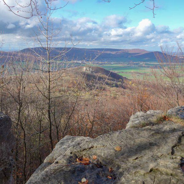 Schöner Ausblick von den Felsformationen des Kantsteins